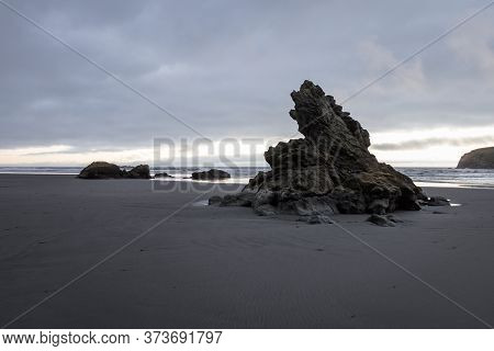 Rock Features In The Oregon Coast