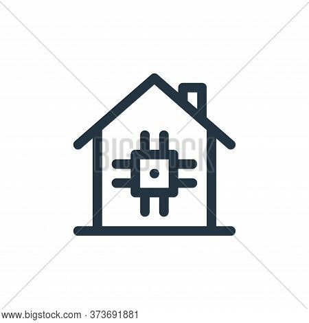 smart home icon isolated on white background from technology of the future collection. smart home ic