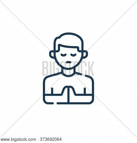 praying icon isolated on white background from kindness collection. praying icon trendy and modern p