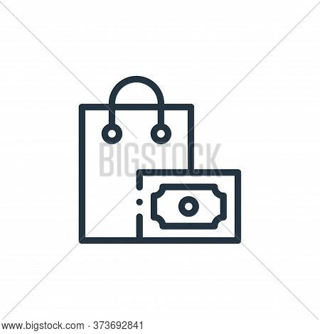shopping bag icon isolated on white background from online shopping collection. shopping bag icon tr