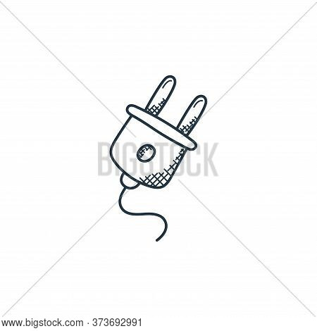 plug icon isolated on white background from technology collection. plug icon trendy and modern plug