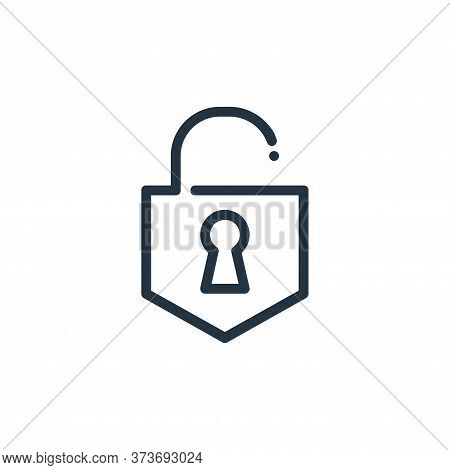 Unlocked Vector Icon From Ricon Collection Isolated On White Background