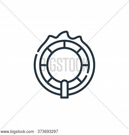 ring of fire icon isolated on white background from circus collection. ring of fire icon trendy and