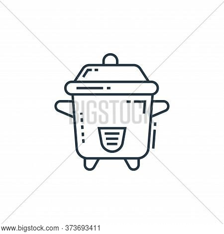 Pressure Cooker Vector Icon From Technology Devices Collection Isolated On White Background
