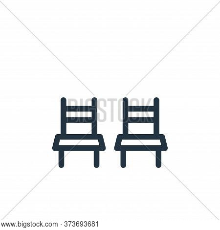 chairs icon isolated on white background from holiday collection. chairs icon trendy and modern chai