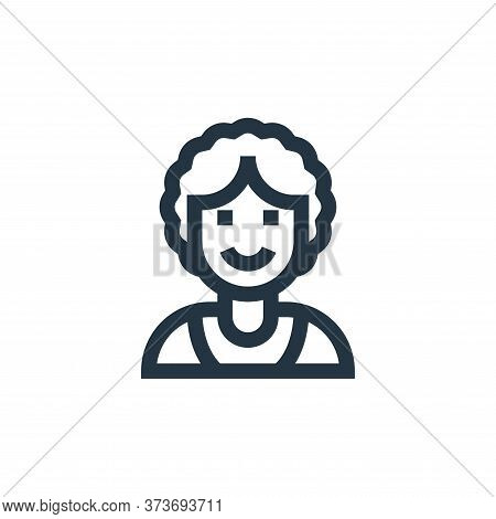 woman icon isolated on white background from people collection. woman icon trendy and modern woman s