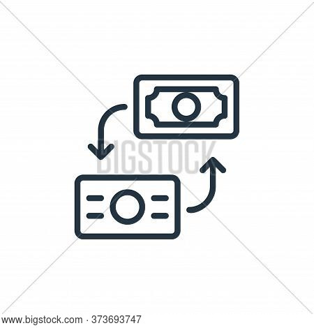 exchange rate icon isolated on white background from money collection. exchange rate icon trendy and
