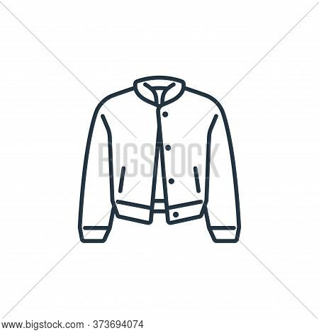 jacket icon isolated on white background from clothes and outfit collection. jacket icon trendy and