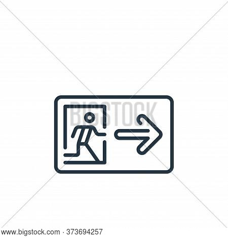exit icon isolated on white background from mall collection. exit icon trendy and modern exit symbol