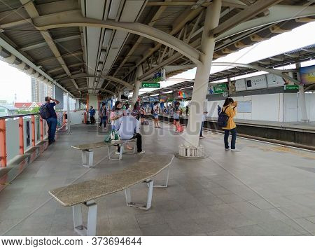 Bangkok Thailand-24 June 2020:mo Chit Bts Station Is An Important Transportation Connection Point Of