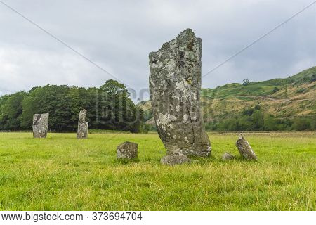 Neolithic And Bronze Age Archaeological Standing Stones Site