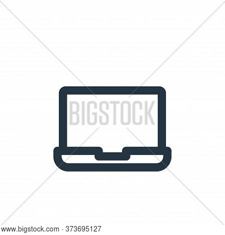 laptop icon isolated on white background from multimedia collection. laptop icon trendy and modern l