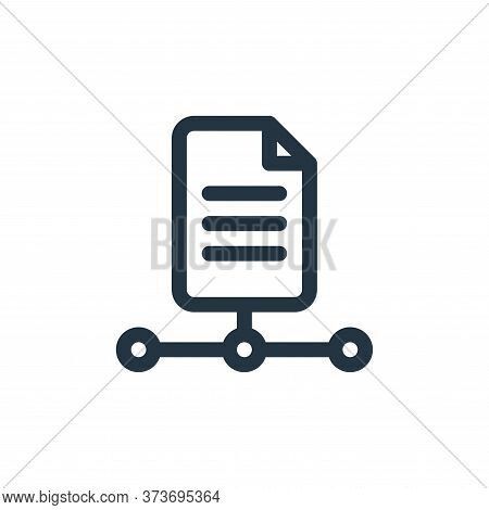 file icon isolated on white background from document and files collection. file icon trendy and mode