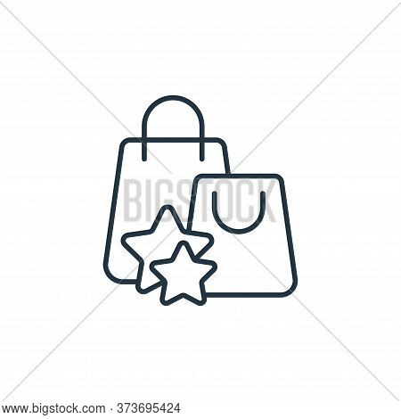 shopping bag icon isolated on white background from casino collection. shopping bag icon trendy and