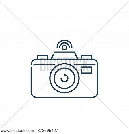 camera icon isolated on white background from internet of things collection. camera icon trendy and