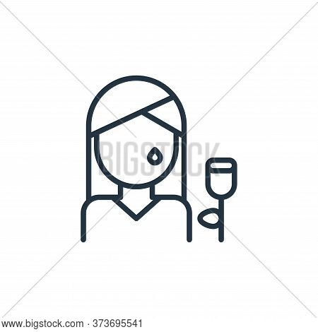 woman icon isolated on white background from funeral collection. woman icon trendy and modern woman