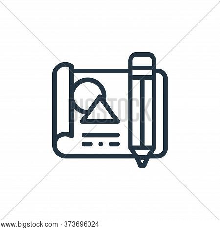 file icon isolated on white background from design thinking collection. file icon trendy and modern