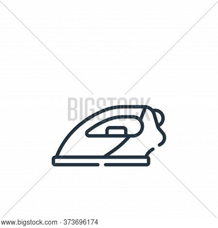 iron icon isolated on white background from sewing collection. iron icon trendy and modern iron symb