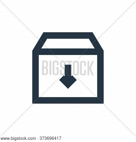 archive icon isolated on white background from user interface collection. archive icon trendy and mo
