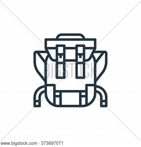 backpack icon isolated on white background from camping collection. backpack icon trendy and modern