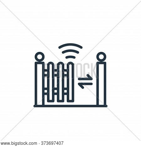 fence icon isolated on white background from internet of things collection. fence icon trendy and mo