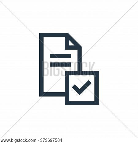 survey icon isolated on white background from feedback and testimonials collection. survey icon tren