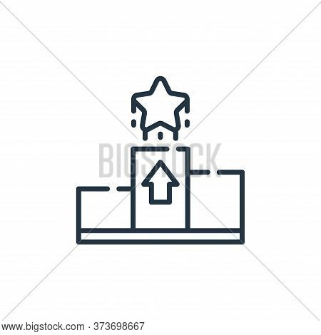 rising icon isolated on white background from fame collection. rising icon trendy and modern rising