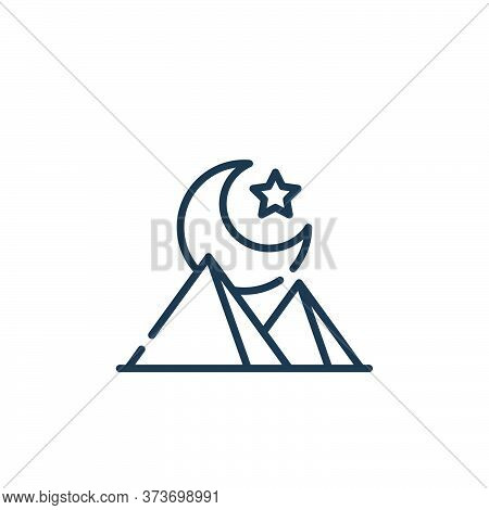 night icon isolated on white background from desert collection. night icon trendy and modern night s