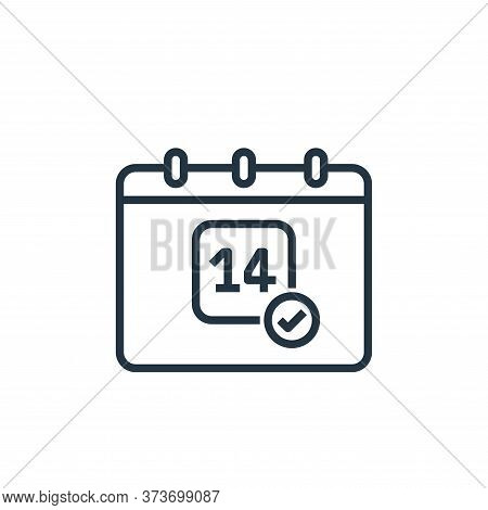 calendar icon isolated on white background from coronavirus collection. calendar icon trendy and mod