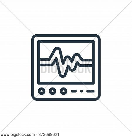 ecg icon isolated on white background from medicine collection. ecg icon trendy and modern ecg symbo