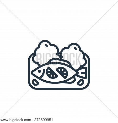 steamed fish icon isolated on white background from seafood collection. steamed fish icon trendy and