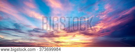 Sky And Clouds In Twilight Time