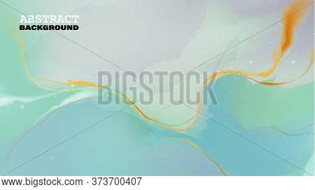 Colorful Luxury Abstract Painting Background. Trendy Wallpaper. Style Incorporates The Swirls Of Mar