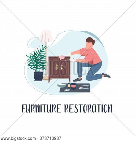 Renovation Social Media Post Mockup. Furniture Restoration Phrase. Web Banner Design Template. Creat