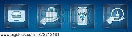Set Online Ordering Burger Delivery, Online Ordering And Delivery, Food Ordering Pizza And Online Or