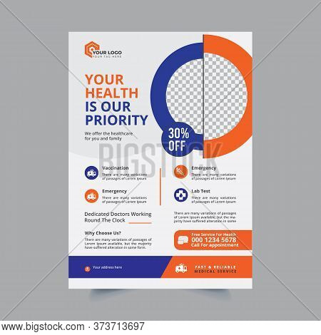 Medical Flyer Design, Health Flyer, Corporate Business Flyer Poster Pamphlet Brochure Cover Design L