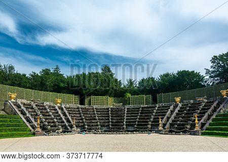 Versailles, France - August 27, 2019 : View Of The Salle De Bal Or Bosquet Des Rocailles In The Gard