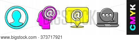 Set Create Account Screen, Mail And E-mail, Mail And E-mail And Chat Messages Notification On Laptop