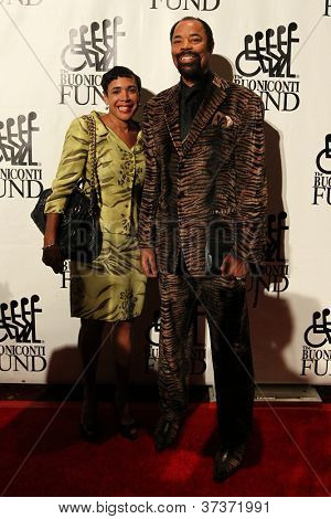 NEW YORK-SEPT. 24: Former basketball player Walt Frazier and Patricia James attend the 27th Great Sports Legends Dinner at the Waldorf-Astoria on September 24, 2012 in New York City.