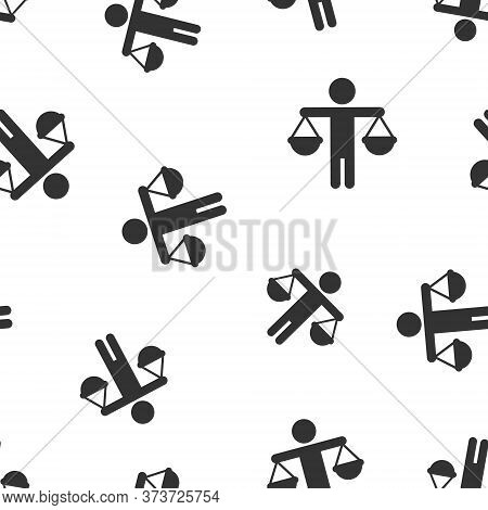 Ethic Balance Icon In Flat Style. Honesty Vector Illustration On Isolated Background. Decision Seaml
