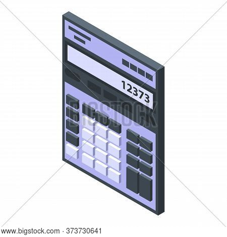 Trader Calculator Icon. Isometric Of Trader Calculator Vector Icon For Web Design Isolated On White