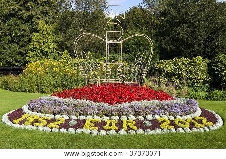 Queen's Jubilee Flowers In Parade Gardens, Bath