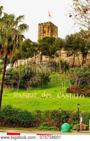 Fuengirola, Malaga, Spain - January 25, 2020: Sohail Castle, Historical Fortification For Coastal De