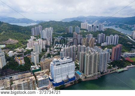 Tsing Yi, Hong Kong 25 June 2020: Hong Kong city