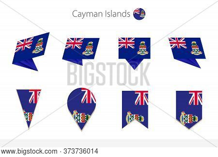 Cayman Islands National Flag Collection, Eight Versions Of Cayman Islands Vector Flags. Vector Illus