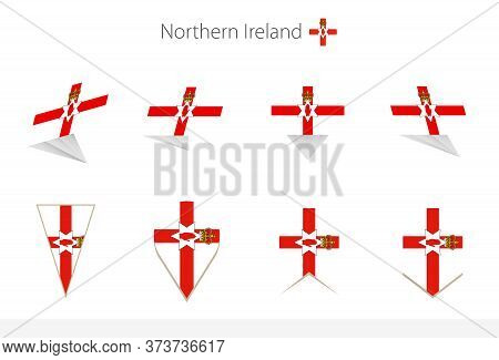 Northern Ireland National Flag Collection, Eight Versions Of Northern Ireland Vector Flags. Vector I