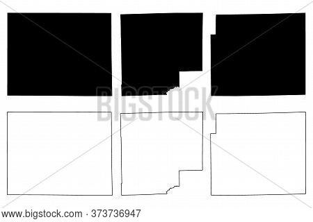 Allen, Bartholomew And Benton County, Indiana (u.s. County, United States Of America, Usa, U.s., Us)