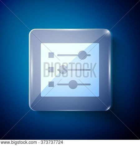 White Car Settings Icon Isolated On Blue Background. Auto Mechanic Service. Repair Service Auto Mech