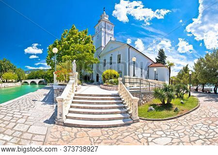 Crikvenica. Church Of The Assumption Of The Blessed Virgin Mary And Crikvenica Waterfront View, Kvar