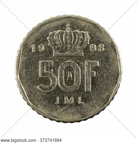 50 Luxembourg Franc (1988) Obverse Isolated On White Background